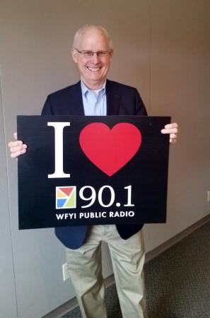 INner Circle donor John Guy visits the station to share why he supports WFYI