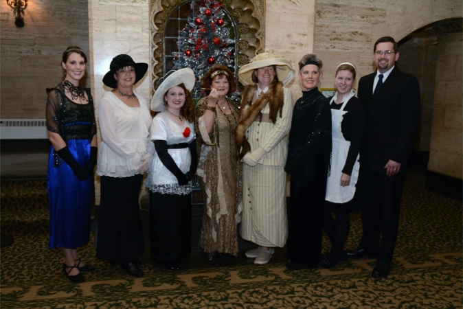 WFYI donors dress for the occasion at WFYI's Downton Abbey screening