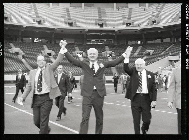 David Frick, Bill Hudnut and Robert Irsay, 1984