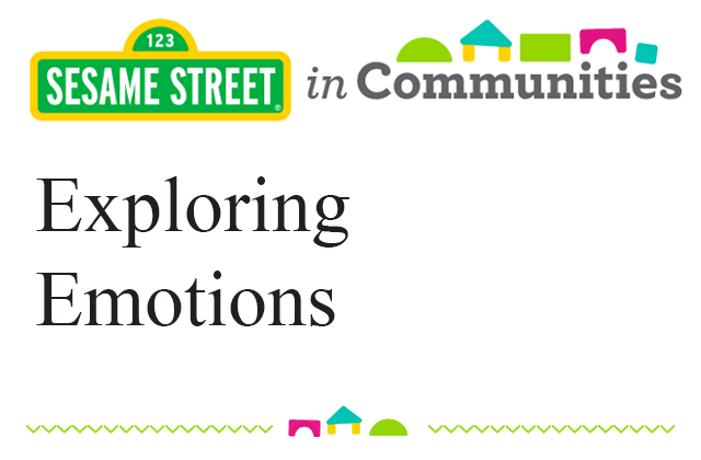 Sesame Street Communities: Exploring Emotions