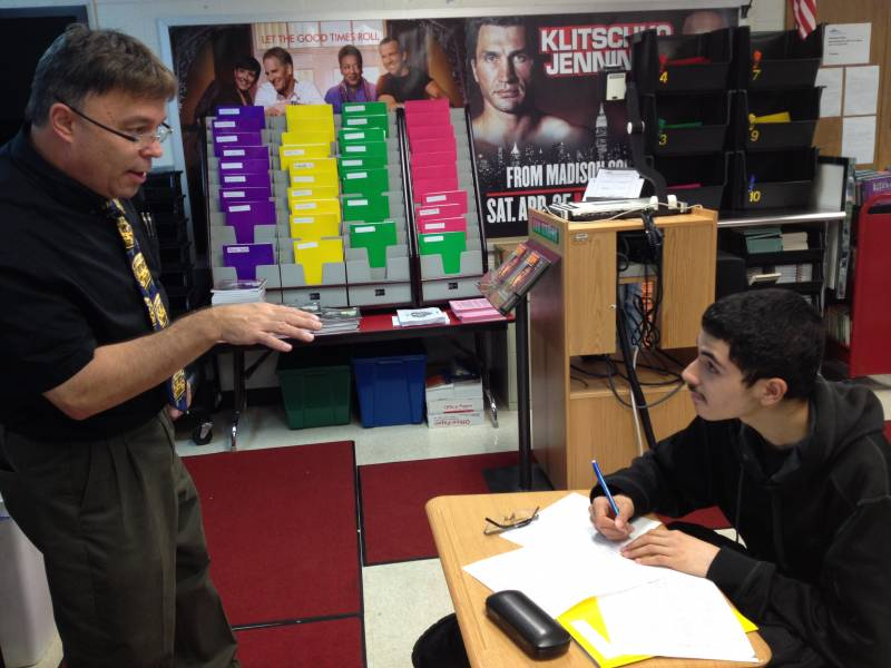 English teacher Kevin Sandorf was one of the few veteran teachers at Arlington. | By Eric Weddle/WFYI News