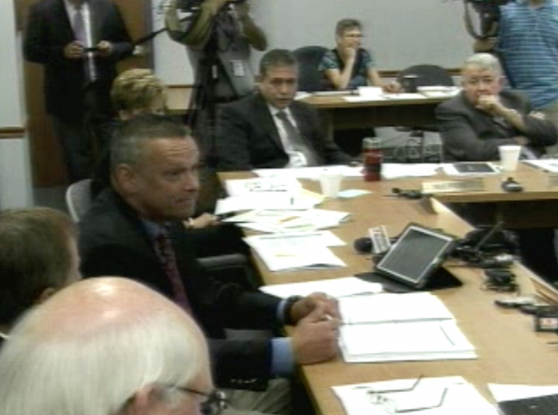 Video capture from State Board of Eduction special meeting, August 29, 2011, to approve the takeover of five schools. | Indiana Dept. of Education