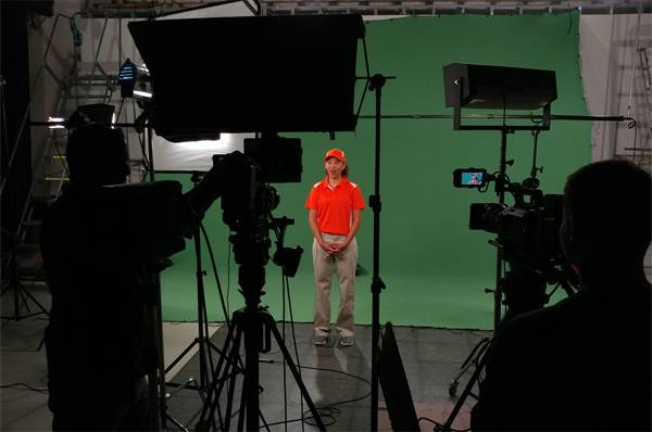Studio A - Studio A is 47.5' X 48', with a full-size white cyclorama. This studio can accommodate large customized sets and green screens (WFYI also has a 20' x 20' Green Screen available).