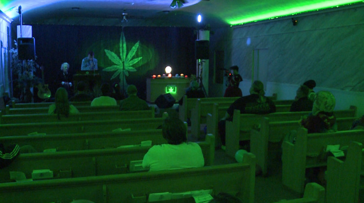The Indianapolis-based First Church of Cannabis and its leader Bill Levin filed the legal challenge after the state's Religious Freedom Restoration Act passed in 2015. - WTIU-WFIU News