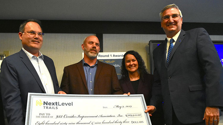 Governor Holcomb Presents Trail Funding In South Bend