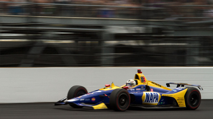 Alexander Rossi finished second in the 103rd running of the Indianapolis 500 on Sunday, May 26, 2019. -  FILE PHOTO: Doug Jaggers/WFYI News