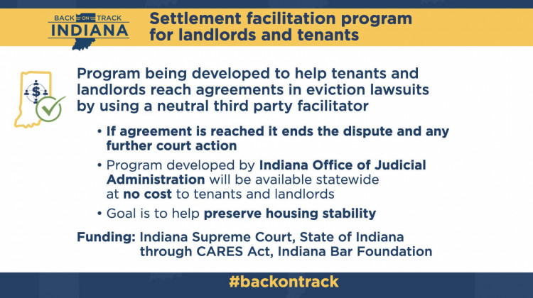 Indiana will launch a settlement arbitration tool for Hoosier landlords and renters as it braces for a flood of evictions when the state's eviction moratorium ends Aug. 14. - Courtesy of the governor's office