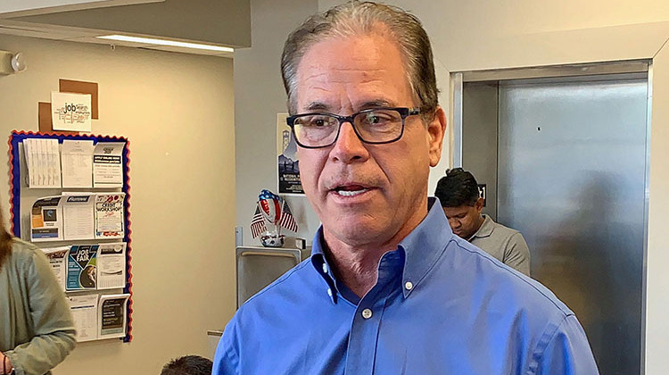 U.S. Sen. Mike Braun (R-Ind.) says he supports President Donald Trump's proposal to import some lower-cost prescription drugs from Canada. - Brandon Smith/IPB News