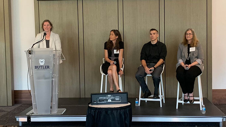 A panel discussion was held at the BioCrossroads event. - Jill Sheridan/IPB News