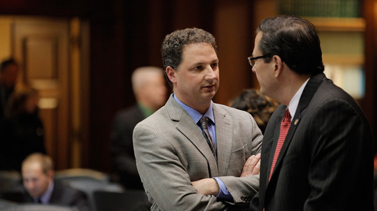Rep. Todd Huston (left) is from Fishers and was first elected to the Legislature in 2012. - Provided by House Republican Caucus