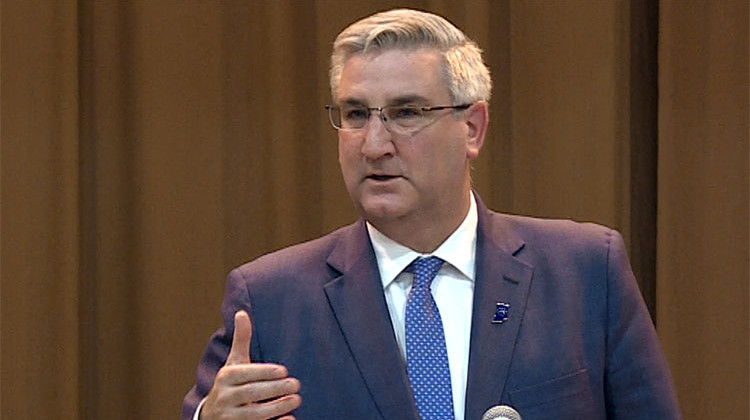 New state campaign finance reports show Indiana Gov. Eric Holcomb raised nearly $2 million in the last six months of 2019. - FILE PHOTO: Zach Herndon/WTIU