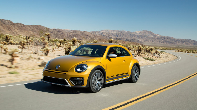 Volkswagen Beetle Dune Exits On The High Road
