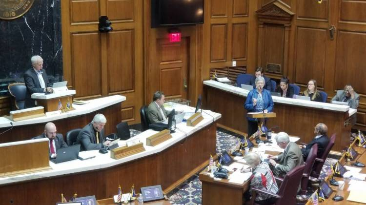 The House Education listens to testimony on SB  387 in the chamber Tuesday. - Jeanie Lindsay/IPB News