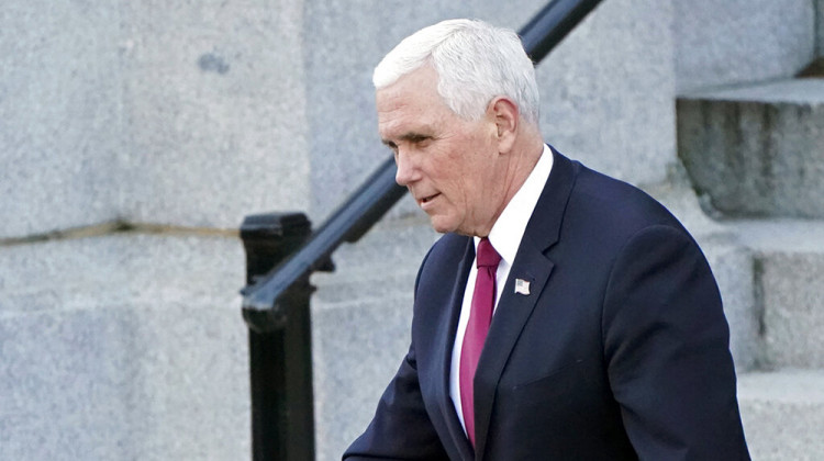 Vice President Mike Pence walks to the West Wing of the White House after speaking to staff on the steps of the Eisenhower Executive Office building in the White House complex in Washington on Tuesday, January 19, 2021.  - AP Photo / Gerald Herbert