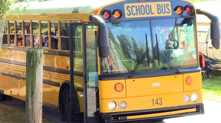 A law that went into effect earlier this year makes says drivers caught illegally passing stopped school buses can face penalties including fines of up to $5,000 or have their license suspended for up to a year.  - FILE: Jeanie Lindsay/IPB News