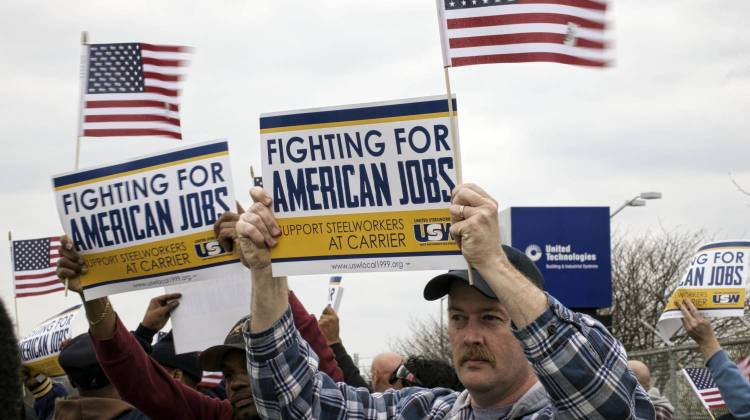 Carrier Layoffs Become 'Get Out The Vote' Tool For Unions