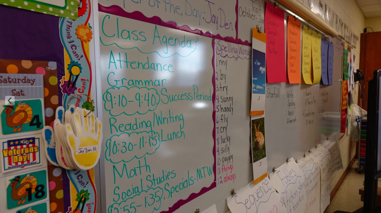 An elementary school classroom in Indiana. - Eric Weddle/WFYI News