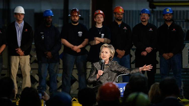 Hillary Clinton Tours Northern Indiana