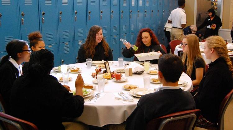 Herron High School Students Learn Turkey Day Manners