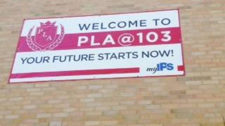 Francis Scott Key Elementary School 103 on the Fareastside is now a Phalen Leadership Academy operated as an IPS school. - Eric Weddle / WFYI Public Media