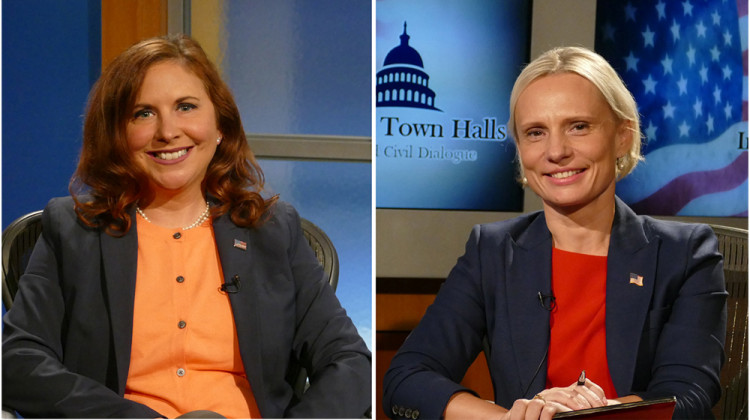 Democrat Christina Hale (left) and Republican Victoria Spartz (left)
