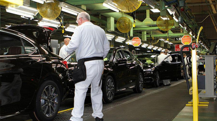 File photo of Honda assembly line in Marysville, Ohio. - FILE PHOTO: Steve Brown/WOSU