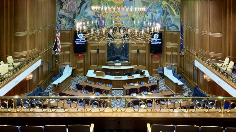 Indiana's voters met in the House of Representatives to cast their votes.  - Brandon Smith / IPB News
