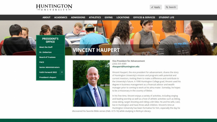 Former Huntington University VP Charged With Misdemeanor Battery