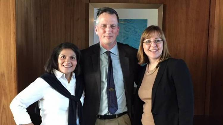Dr. Maria Carrillo, Dr. Bruce Lamb and Dr. Liana Apostolova investigators with the LEADS trial. - Jill Sheridan/IPB News