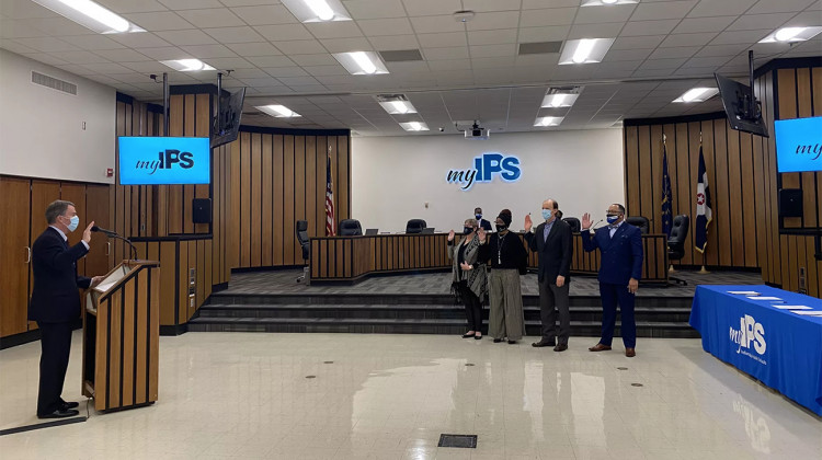 Indianapolis Public Schools Swears In New Board Members, Strengthening Support For Charters, Reforms