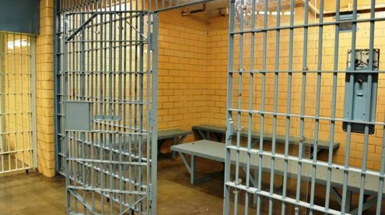 A holding cell in the current Marion County Jail 1. - Ryan Delaney/WFYI