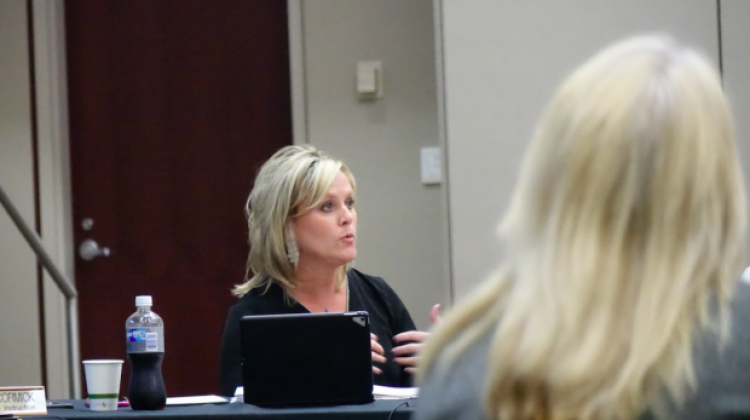 Jennifer McCormick leads the State Board of Education meeting May 10. - Eric Weddle/WFYI News