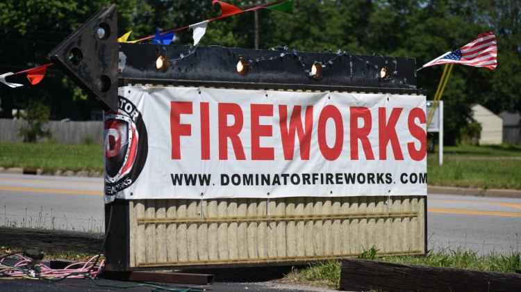The sign outside a seasonal fireworks stand in northern Indiana. - Justin Hicks/IPB News