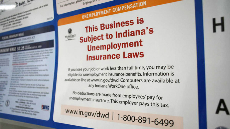 Indiana To Use Bulk Of Remaining COVID-19 Relief Money For Federal Unemployment Loan