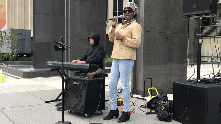 Local Musicians Play For Early Voters At City-County Building
