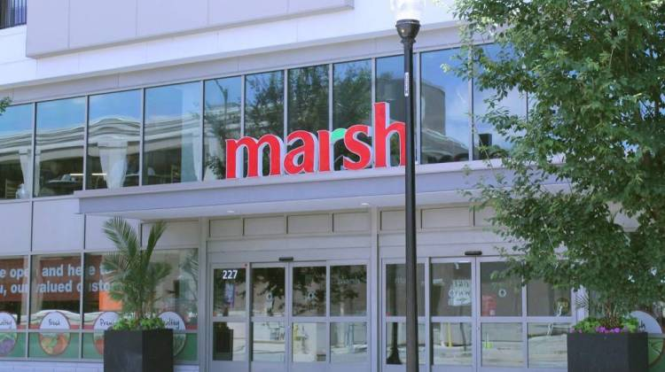 A Kroger subsidiary made an offer on 11 Marsh stores including this one in Indianapolis at Monday's bankruptcy