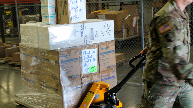 Indiana National Guard Coordinates With State Agencies To Distribute Medical Supplies