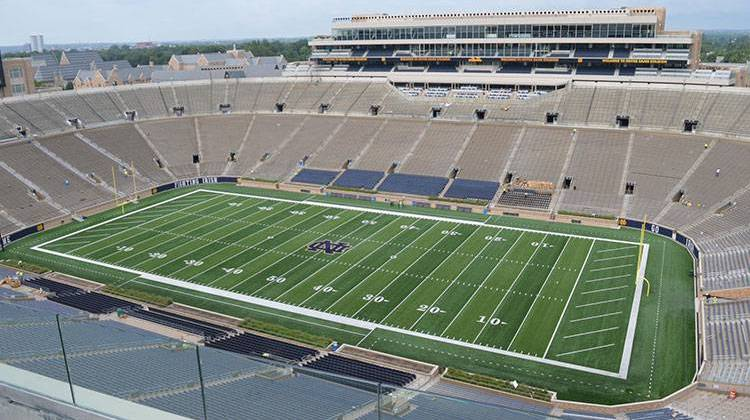 The University of Notre Dame football stadium as seen in fall of 2017. - Jennifer Weingart/WVPE