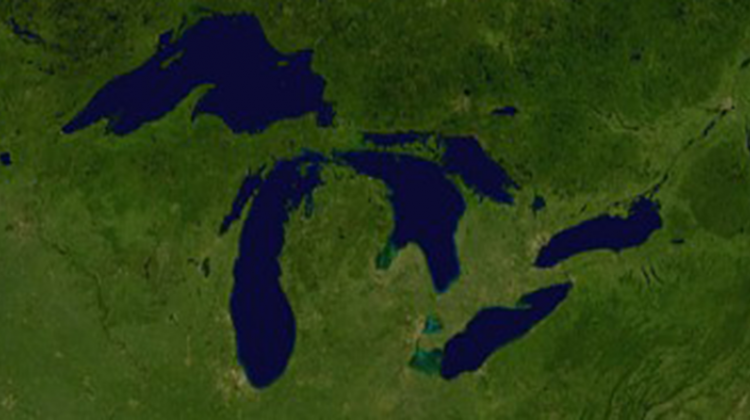 US House OKs Bill Extending Great Lakes Restoration Program - Map of the us great lakes