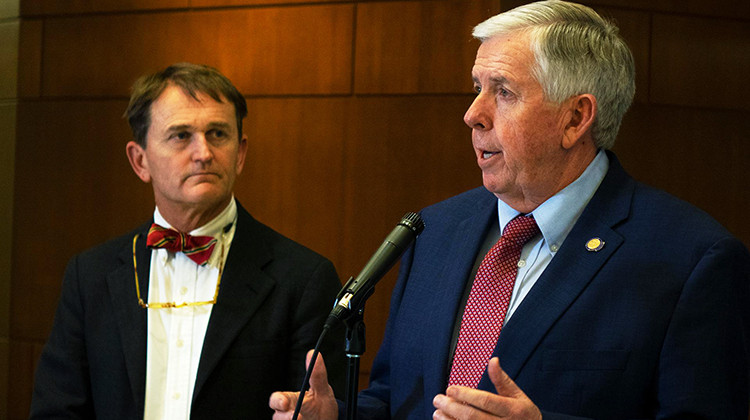 Missouri Governor Mike Parson has resisted growing calls to issue state-wide orders in response to COVID-19.  - SEBASTIÁN MARTÍNEZ VALDIVIA / SIDE EFFECTS PUBLIC MEDIA