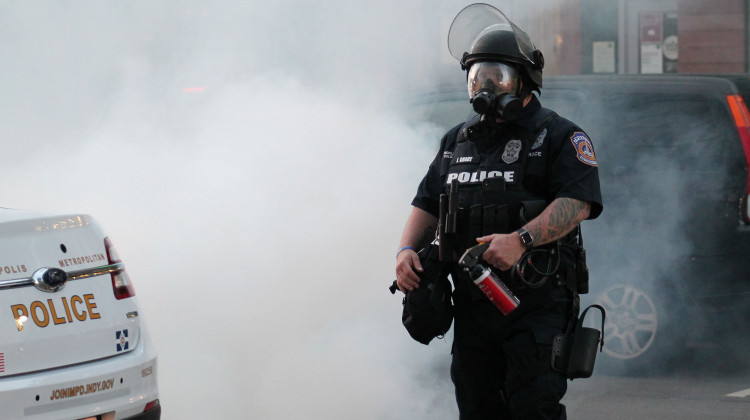 Peaceful Protests Followed By Police Clashes Take Place Across Indiana Over Weekend