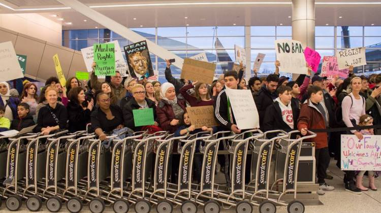 Hundreds At Indy Airport Rally Against Refugee Bans