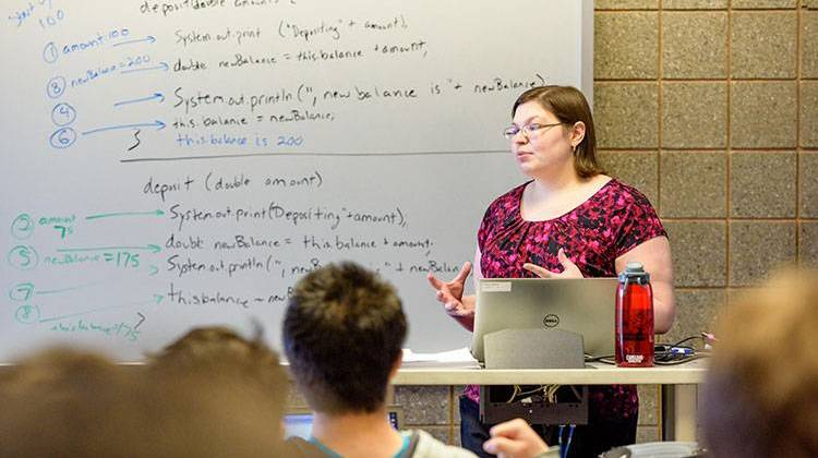 Rose-Hulman alumna Amanda Stouder teaches classes at her alma mater as a professor of practice. - Provided by Rose-Hulman Institute of Technology