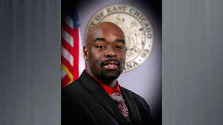 "East Chicago councilman Robert ""Coop"" Battle was charged last week in the death of an East Chicago man. He pleaded not guilty to the murder charge Tuesday. - East Chicago Common Council"
