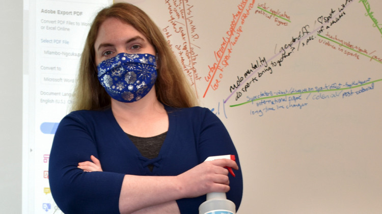 Crawfordsville High School teacher Emily Race says coming up with ideas about what can help her cope with pandemic-fueled stress feels like another task on a never-ending list of things to do.  - Provided by Emily Race