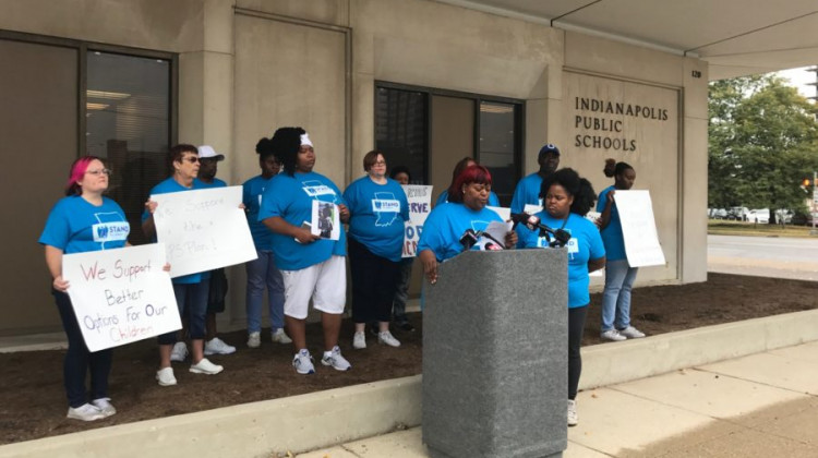 The parent organizing group Stand for Children is donating $100,000 to the campaign for more funding for Indianapolis Public Schools. - Dylan Peers McCoy / Chalkbeat Indiana