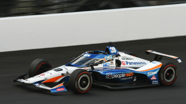 Takuma Sato won his second Indianapolis 500 in four years. - Doug Jaggers/WFYI