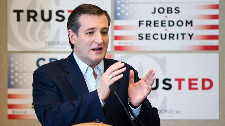 Republican presidential candidate Sen. Ted Cruz, R-Texas, gestures as he speaks during a news conference, Wednesday, April 20, 2016, at the Republican National Committee Spring Meeting in Hollywood, Fla. - AP Photo/Wilfredo Lee