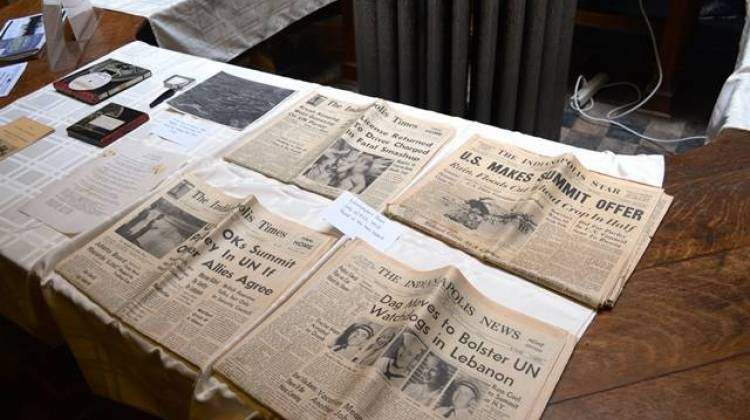 Newspapers included in a time capsule buried of the Bahr Treatment Center of the state hospital. It was recovered this summer. - Ryan Delaney/WFYI