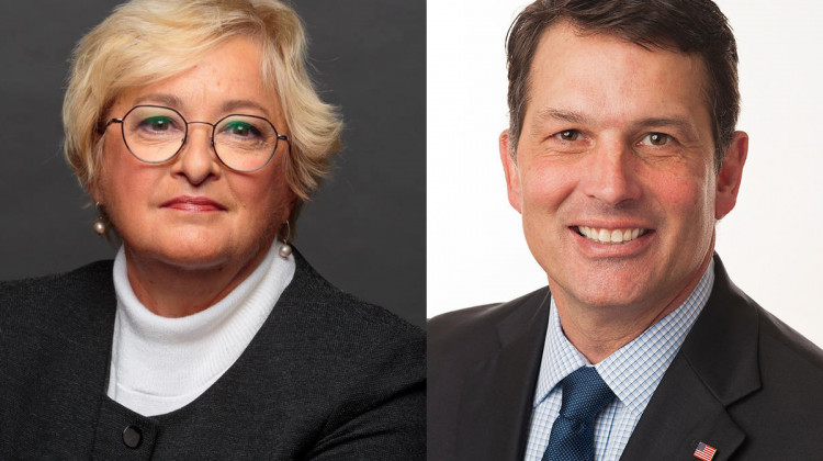 Sen. Karen Tallian (D-Ogden Dunes), left, and former Evansville Mayor Jonathan Weinzapfel are Indiana Democrats' candidates for attorney general. - Courtesy of the Tallian and Weinzapfel campaigns